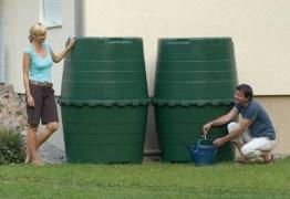 Garantia Top - Wassertank 1300 ltr. Dunkelgrüner Regenwassertank