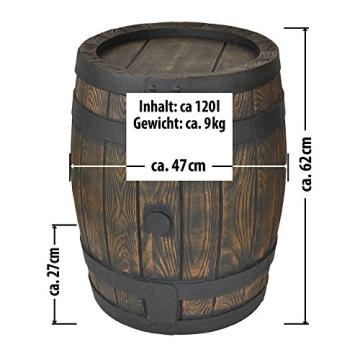 Schön ᐅ Regentonne Eichenfass, 120l, Fass, holzoptik | regentonne  QR49