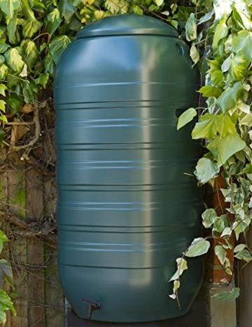 XXL Regentonne aus Kunststoff mit 250 Liter Volumen inklusive Stand