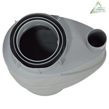 Fallrohrfilter Regensammler T33 braun / grau - Der Regenwasser-Filter für Regentonnen mit bis zu 95% Wirkungsgrad mit Anschlusszubehör und Universalanschluss für alle Fallrohre 75-110mm (1 Stk. Grau) - 3