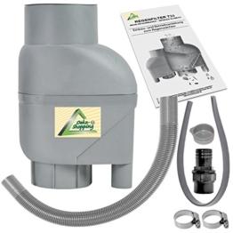 Fallrohrfilter Regensammler T33 braun / grau - Der Regenwasser-Filter für Regentonnen mit bis zu 95% Wirkungsgrad mit Anschlusszubehör und Universalanschluss für alle Fallrohre 75-110mm (1 Stk. Grau) - 1