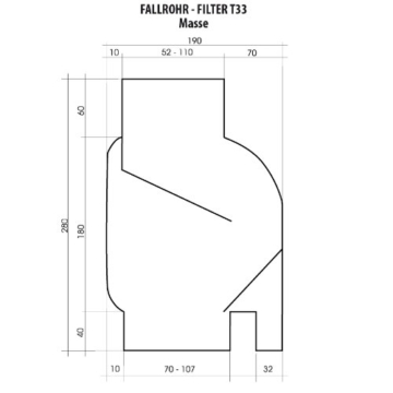 Fallrohrfilter Regensammler T33 braun / grau - Der Regenwasser-Filter für Regentonnen mit bis zu 95% Wirkungsgrad mit Anschlusszubehör und Universalanschluss für alle Fallrohre 75-110mm (1 Stk. Grau) - 8