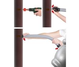 Regensammler mit Flex Schlauch Wassersammler Fallrohfilter - 1