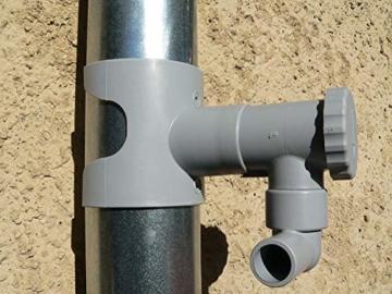 Regentonne, Capt Wasser für Leitungen Circular (grau) - 8