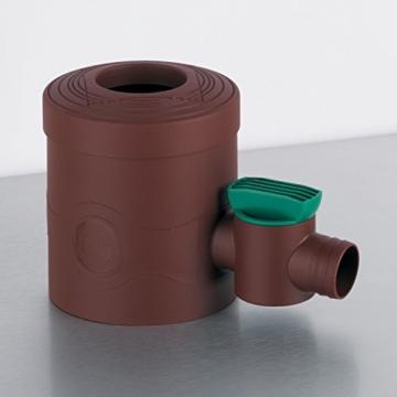 Regenwasserfilter Regensammler mit Absperrhahn braun für Fallrohre Ø 68 - 100 mm und Viereckfallrohre mit 60 x 60 mm zum Befüllen von Regentonnen, Regenfässer und Regenwassertonnen - 2