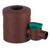 Regenwasserfilter Regensammler mit Absperrhahn braun für Fallrohre Ø 68 - 100 mm und Viereckfallrohre mit 60 x 60 mm zum Befüllen von Regentonnen, Regenfässer und Regenwassertonnen - 1