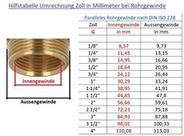 tecuro Tankverschraubung Faßverschraubung Behälterverschrabung Messing mit 1 1/4 (5/4) Zoll Aussengewinde x 1 Zoll Innengewinde - 4