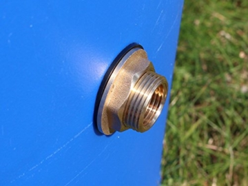 tecuro Tankverschraubung Faßverschraubung Behälterverschrabung Messing mit 1 1/4 (5/4) Zoll Aussengewinde x 1 Zoll Innengewinde - 5
