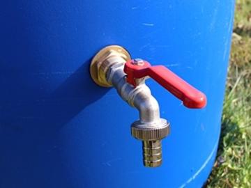 tecuro Tankverschraubung Faßverschraubung Behälterverschrabung Messing mit 1 1/4 (5/4) Zoll Aussengewinde x 1 Zoll Innengewinde - 6